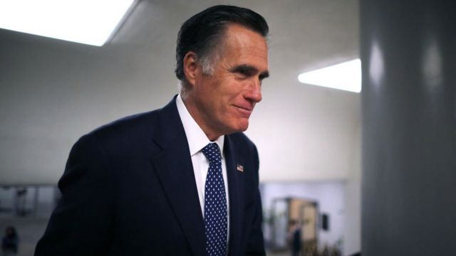 Senador republicano Mitt Romney