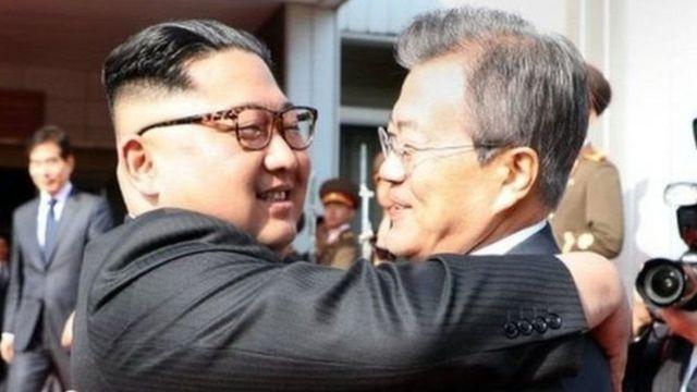 કિમ જોંગ-ઉન અને મૂન જે-ઇન
