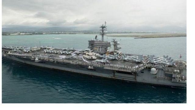 罗斯福号本年度第三次进入南海活动