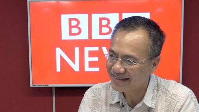 LS Nguyễn Quốc Lân trong một lần đến thăm văn phòng BBC ở Bangkok