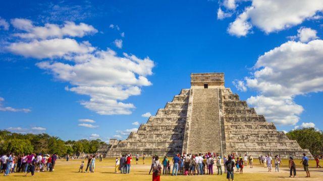 Templo maia em Chichen Itza, no México