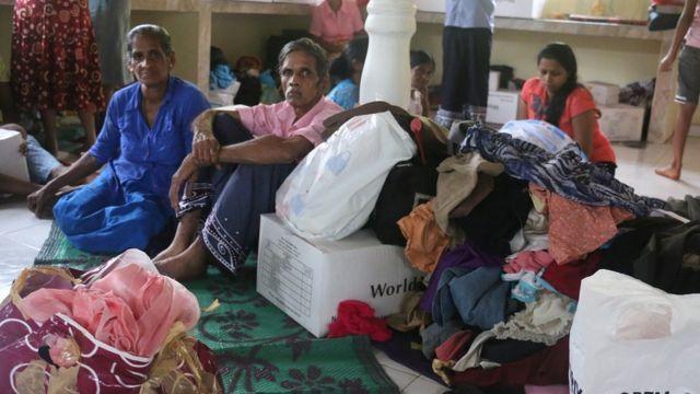 Sri Lanka Land slide Rescue Camps