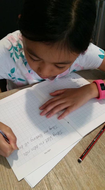 Giữ Tiếng Việt cho con cần có sự kiên định của cha mẹ