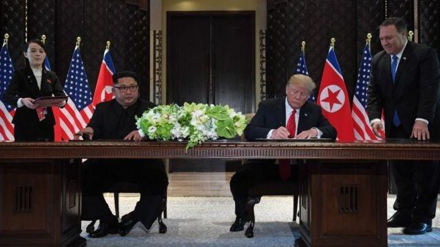 Kim Jong Un y Donald Trump firman un acuerdo en Singapur