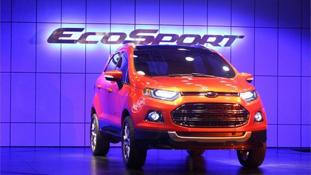 Ford's new compact SUV EcoSport is unveiled at The Taj Palace Hotel on January 4, 2012 in New Delhi, India. T