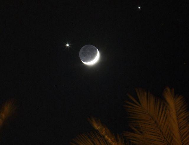 Ocultación lunar de Venus y Jupiter en diciembre de 2008.