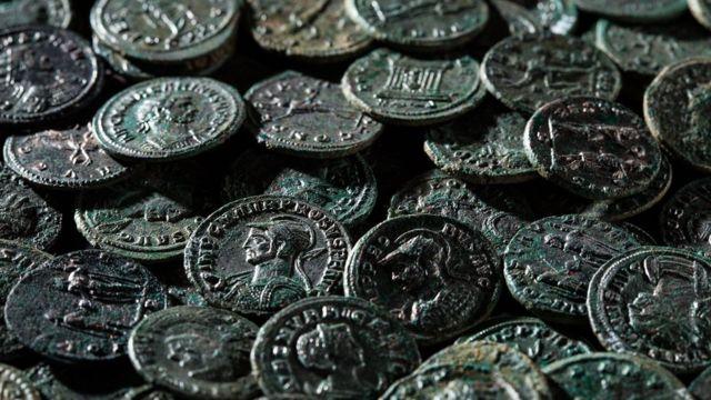 Trove of ancient Roman coins found in Switzerland