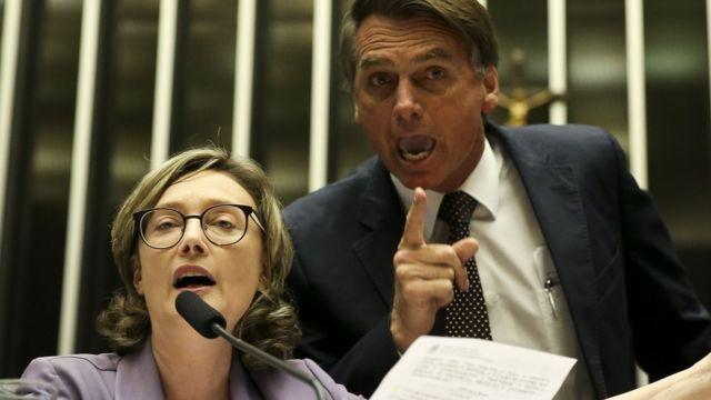Bolsonaro com Maria do Rosário, em 2016