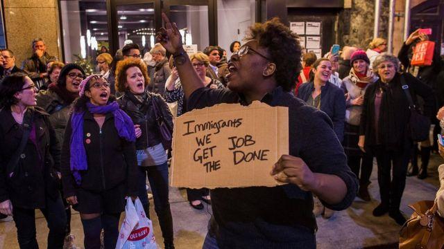 Protesta en el teatro Richard Rodgers