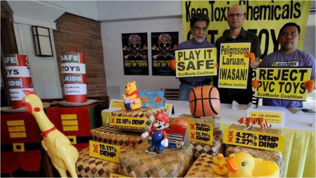 Protesta contra los ftalatos en los juguetes