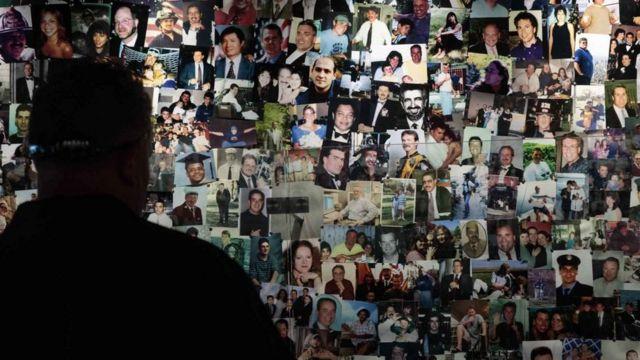 Korban serangan 11 September di museum di New York.