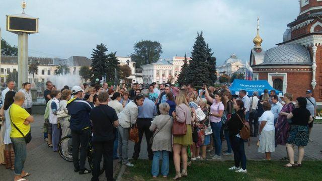 Народный сход после приговора Евгению Урлашову