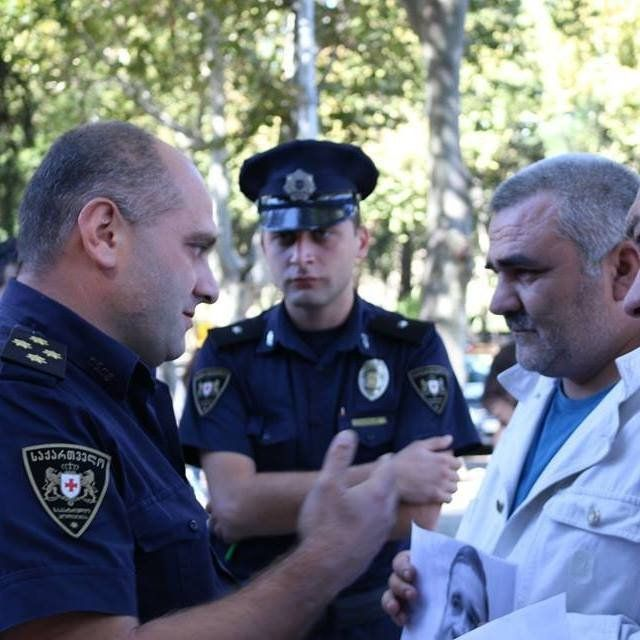 Əfqan Muxtarlı, Tbilisi, polis
