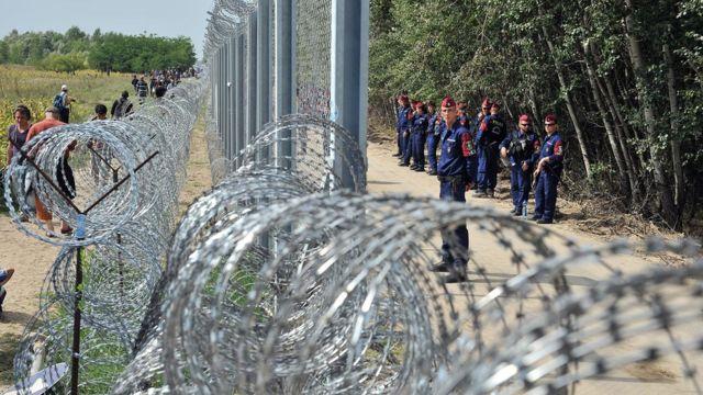 Граница между Сербией и Венгрией