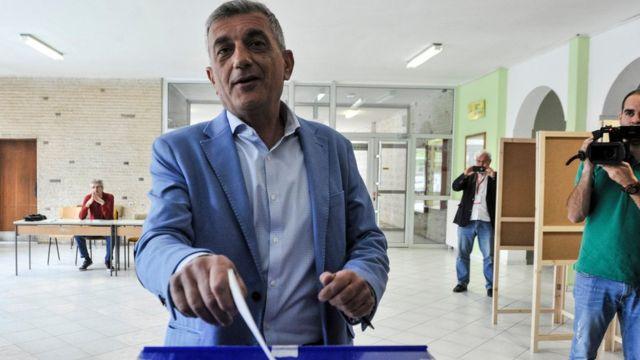 Bojanić glasa u Podgorici, 15. april 2018.