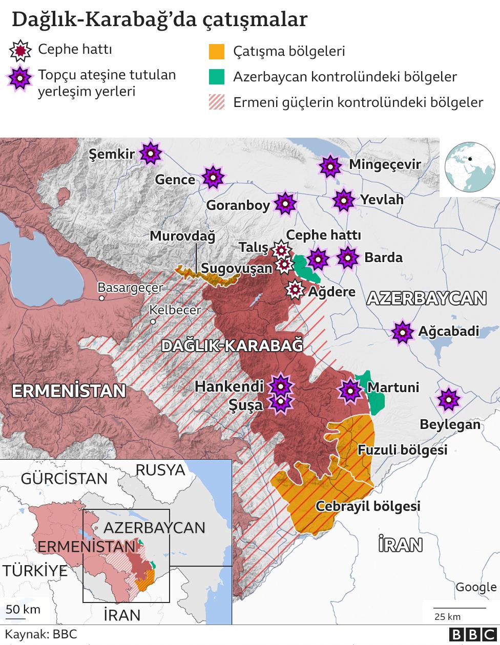 Dağık Karabağ haritası