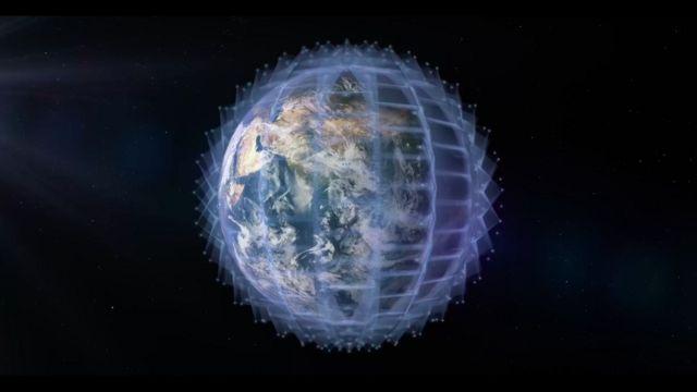Ilustración de la megaconstelación que construiría OneWeb.