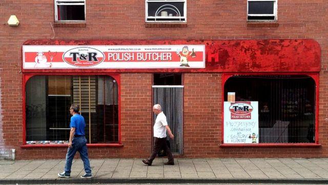 Польский мясной магазин в Бостоне