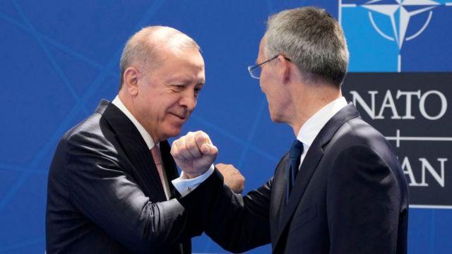Cumhurbaşkanı Erdoğan ile NATO Genel Sekreteri Stoltenberg, Brüksel'de bir araya geldi.