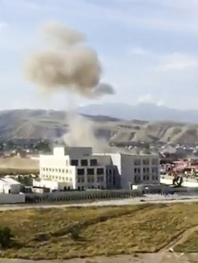 Взрыв у посольства КНР в Бишкеке