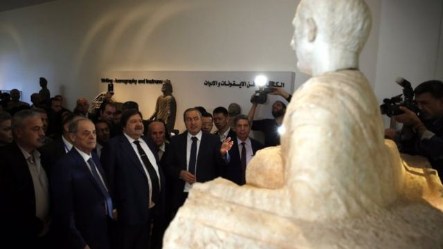 مراسم بازگشایی موزه ملی سوریه