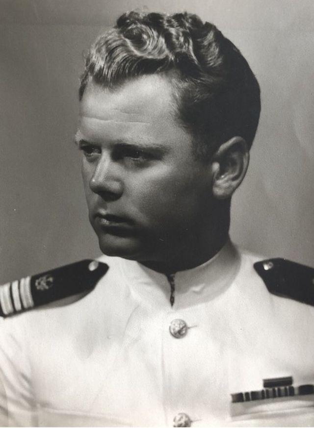 Sindberg in US merchant navy uniform
