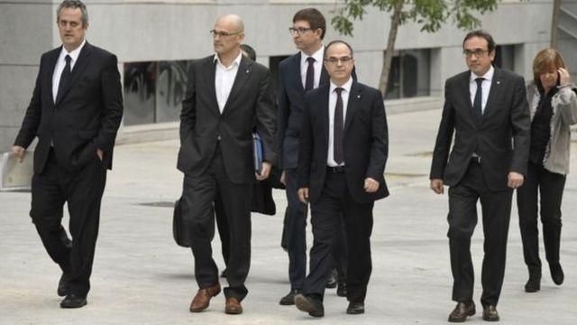 Exmiembros del gobierno catalán
