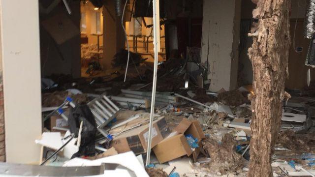 Digger driver wrecks Liverpool hotel lobby