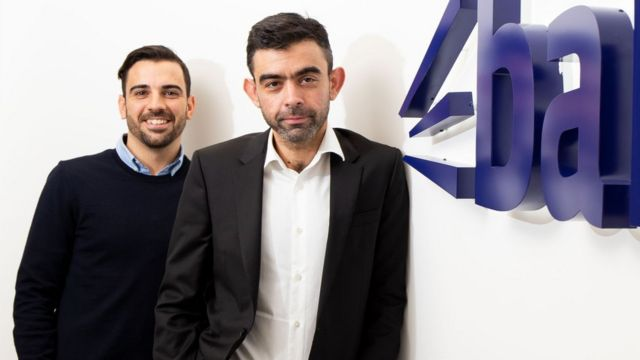 Andrew Michael (right) and Bark co-founder Kai Feller