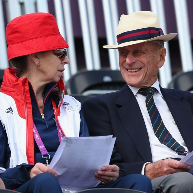 Princess Anne attends equestrian eventing with Prince Phillip the Duke of Edinburgh,