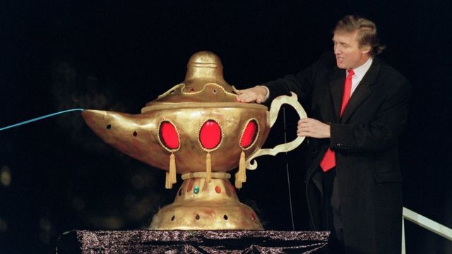 Donald Trump at the Taj Mahal casino in 1990