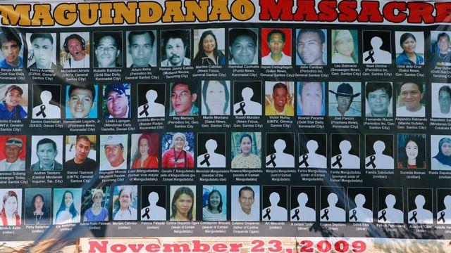 ဖိလစ်ပိုင်၊ လူအစုလိုက်အပြုံလိုက် သတ်မှု၊ ပြစ်ဒဏ်