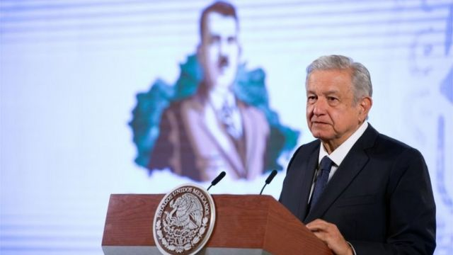 AMLO during a press conference on October 19, 2020.