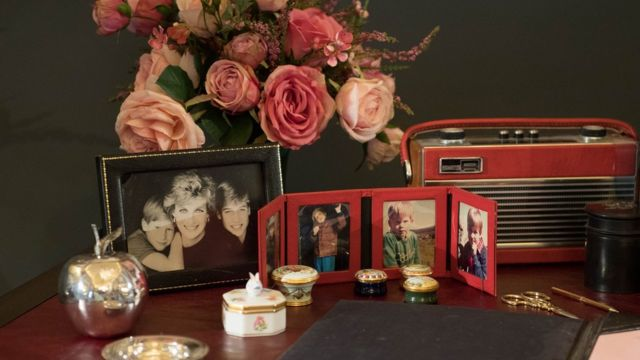 Princess Diana ve oğulları Harry ile William'ın fotoğrafları