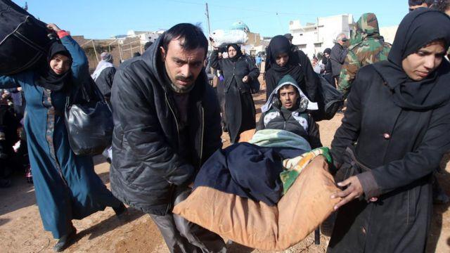 نازحون من شرقي حلب