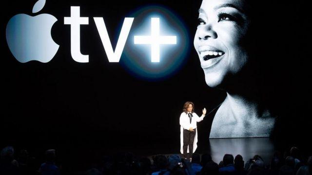 (캡션) 오프라 윈프리는 애플과 함께 오리지널 TV 쇼를 기획하고 있다