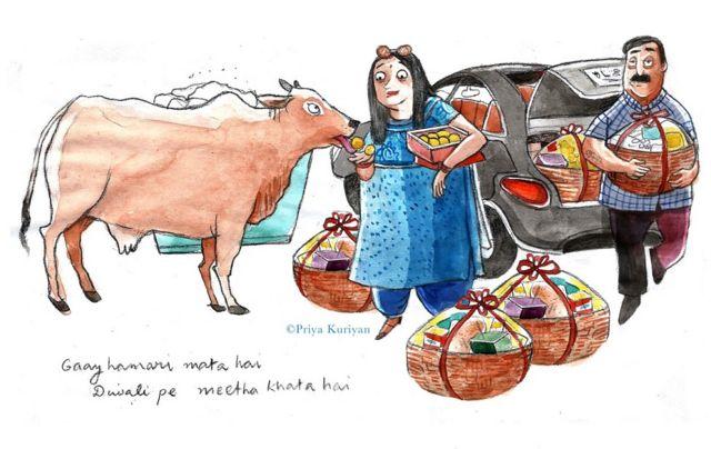 दीवाली और गाय