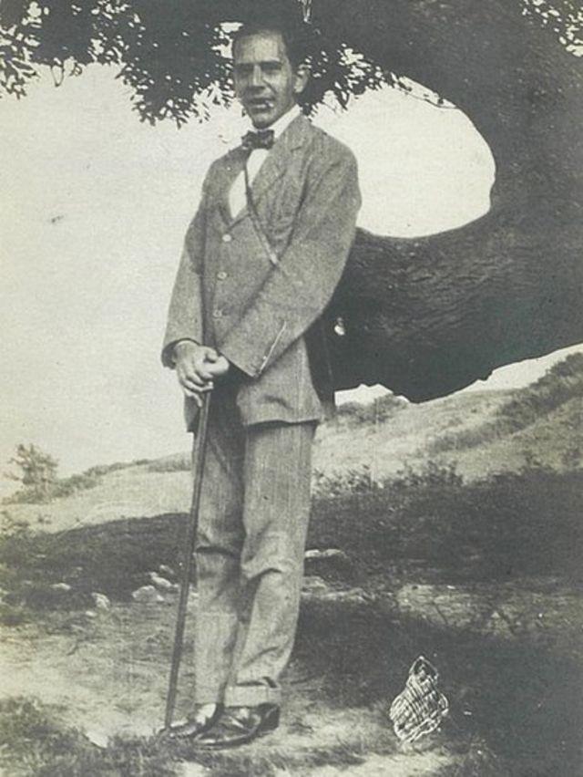 Александр Виленкин на острое Уайт (август 1914 гю)