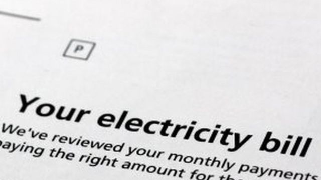 An electricity bill. File photo