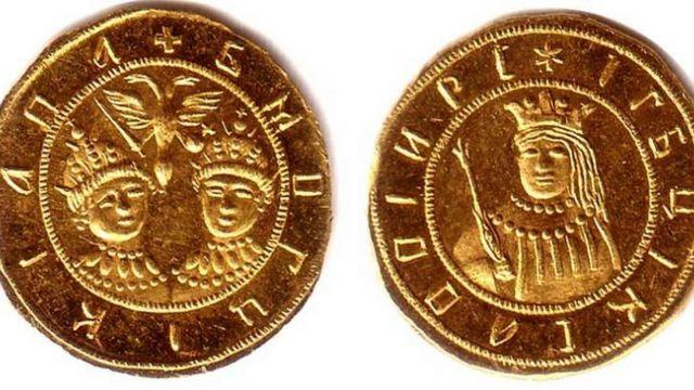 Русский золотой червонец 1689 года