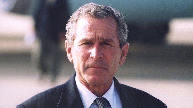 O presidente George W. Bush