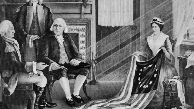 La primera bandera estadounidense