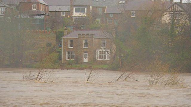 Flooded Corbridge
