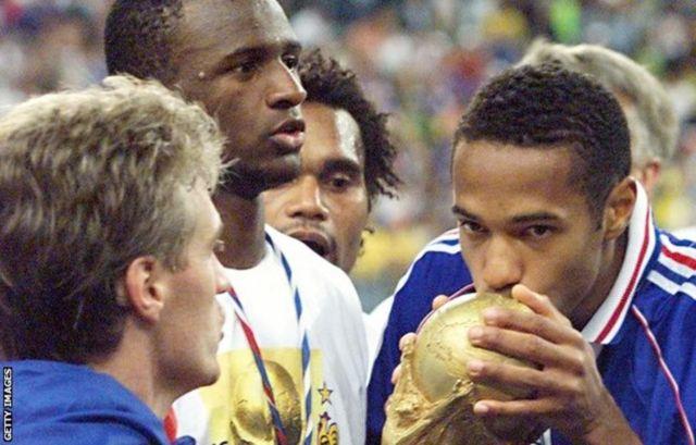 सन् १९९८ मा विश्वकप जितेको फ्रान्स