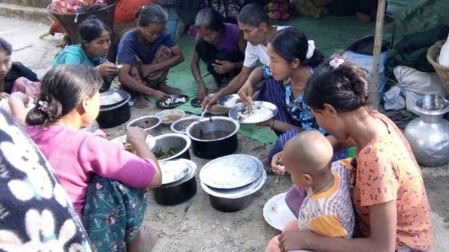 တိုက်ပွဲတွေကြောင့် ထွက်ပြေးတိမ်းရှောင်လာကြသူများ