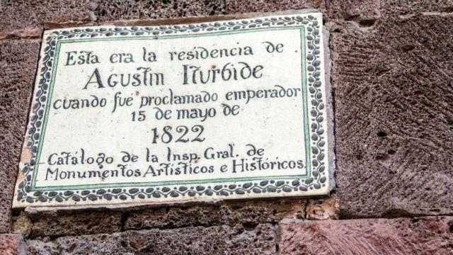 Placa de Iturbide.