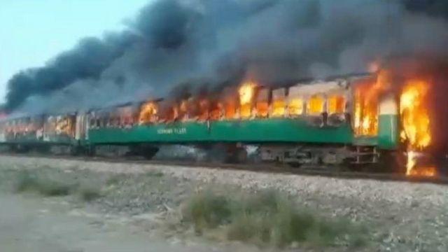 रेलमा आगलागी