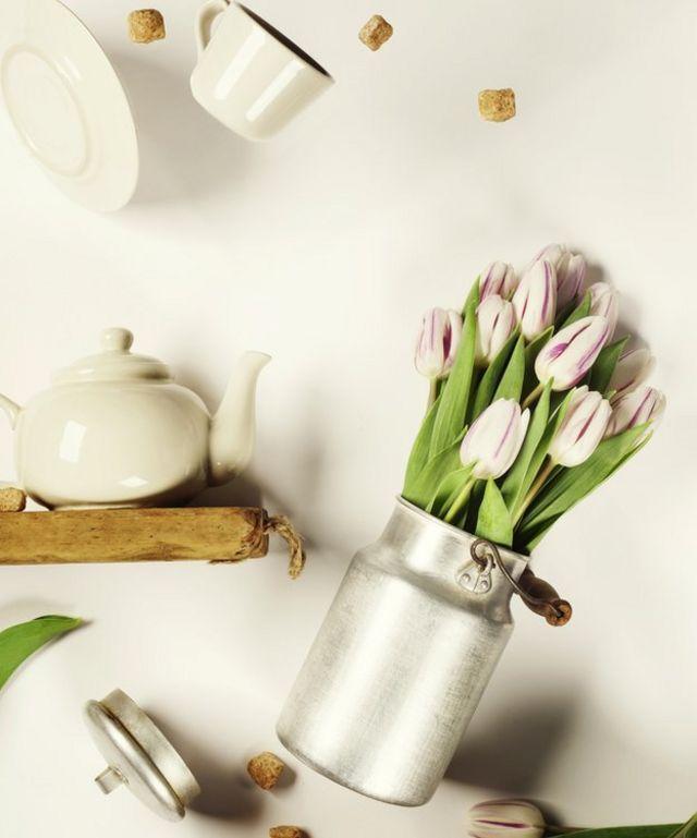 flores y té volando