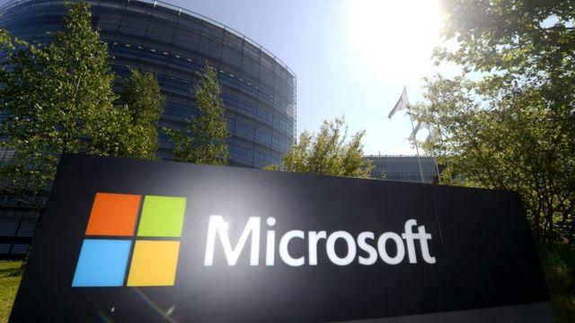 Un logotipo de Microsoft