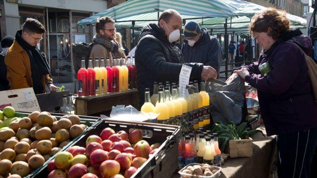 Уличный рынок в Хакни, Лондон